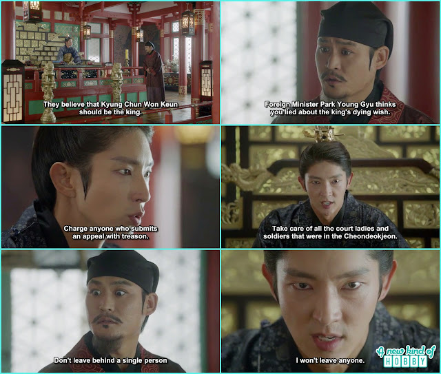 king wang so in anger told ji monk to kill every one who doubt him on the king seat  - Moon Lovers Scarlet Heart Ryeo - Episode 17 (Eng Sub)