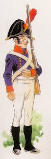 Fusilero del Regimiento Fijo de Buenos Aires (1806), por José María Bueno