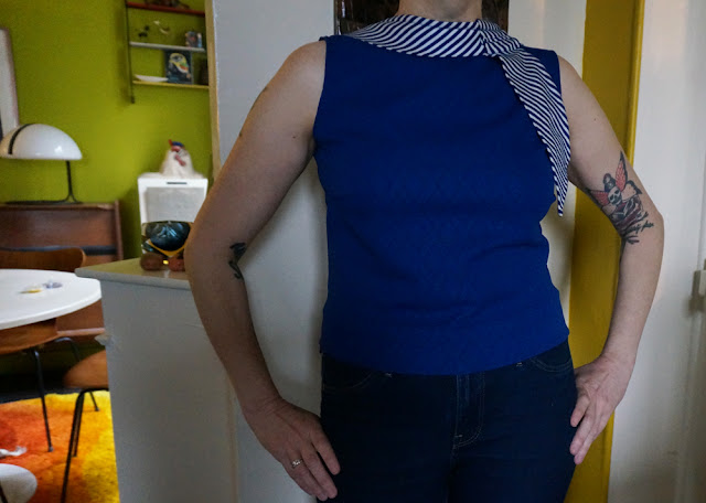 60s sleeveless top double knit fabric 1960s