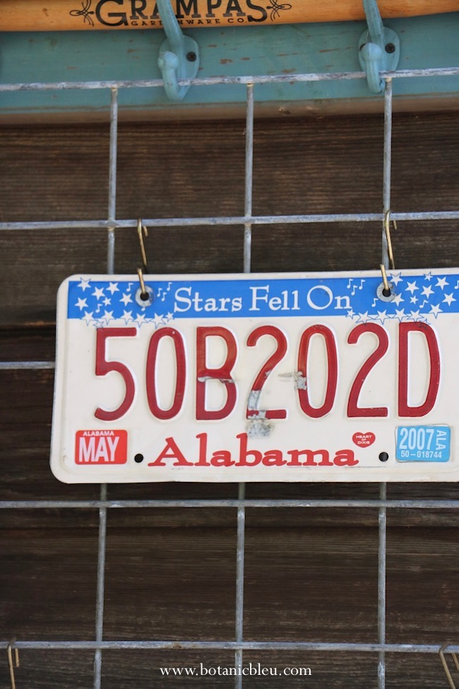 stars fell on Alabama license plate adds patriotic look to outdoor porches