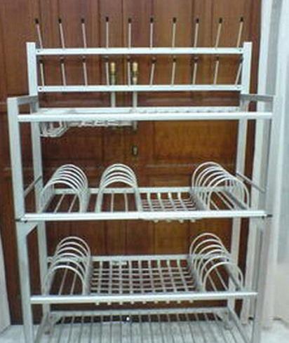 3 langkah mudah cara membuat rak piring aluminium for Bikin kitchen set sendiri