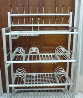 3 langkah mudah cara membuat rak piring aluminium for Buat kitchen set