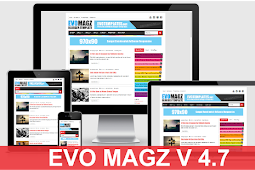 Template Blogger Evo Magz V4.7 Responsif Free download