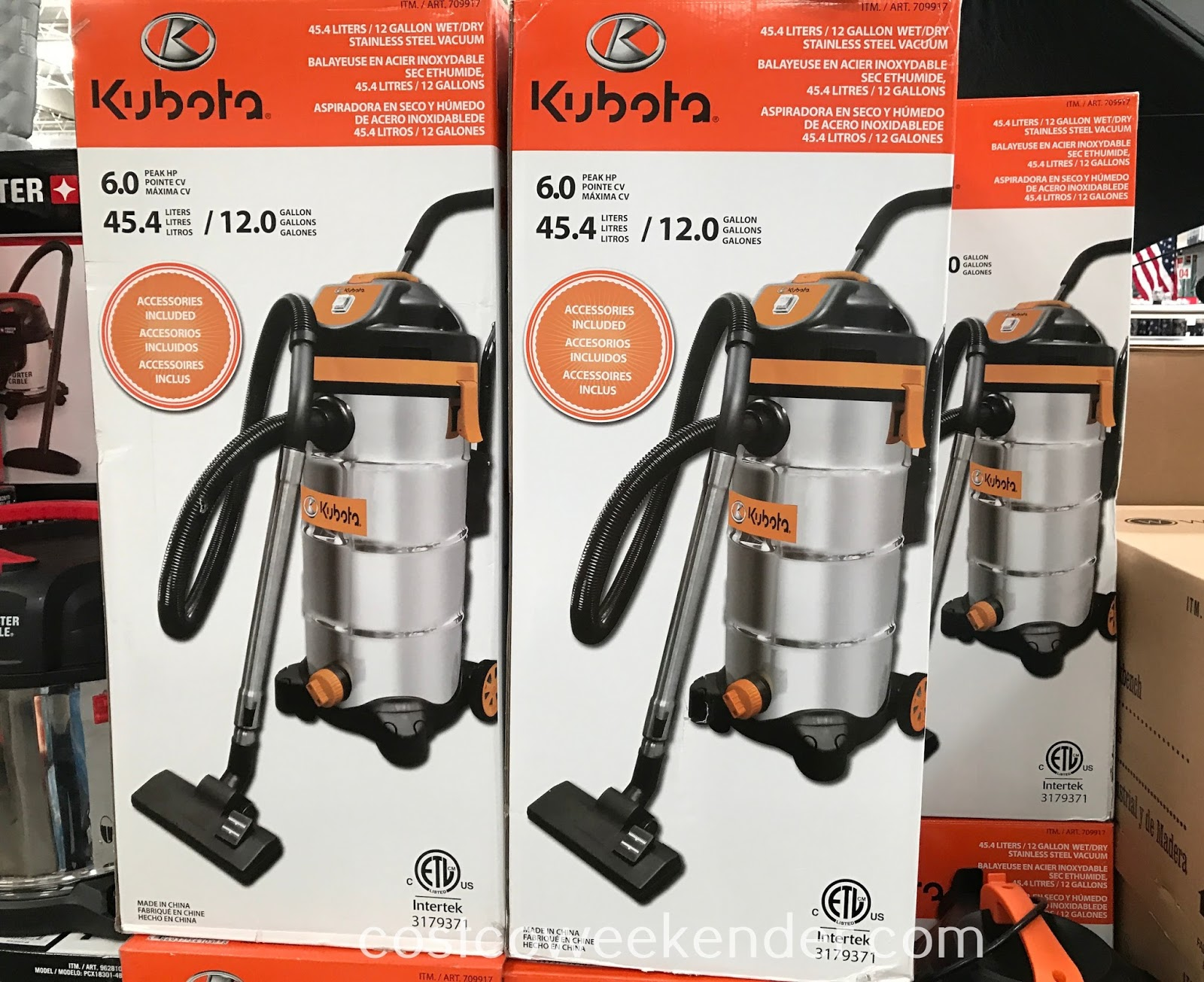 Costco 709917 - Easily clear debris in your home with the Kubota Wet/Dry Vacuum