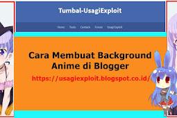 Cara Membuat Background Anime di Blogger