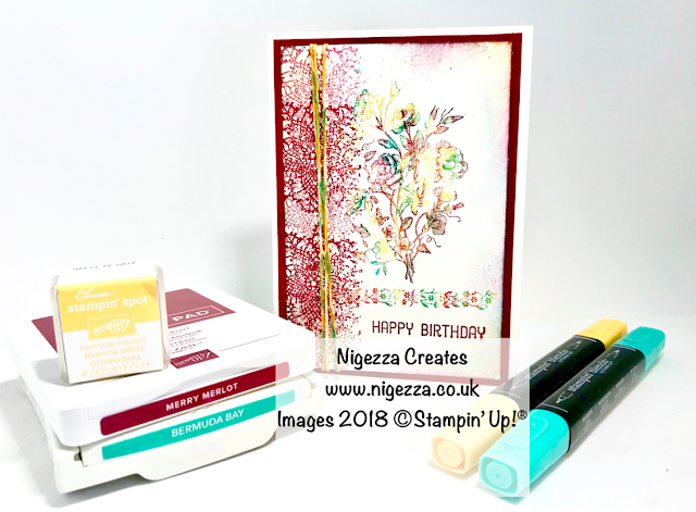 InspreInk Colour Challenge Tutorial Using Stampin' Up!® Very Vintage Nigezza Creates