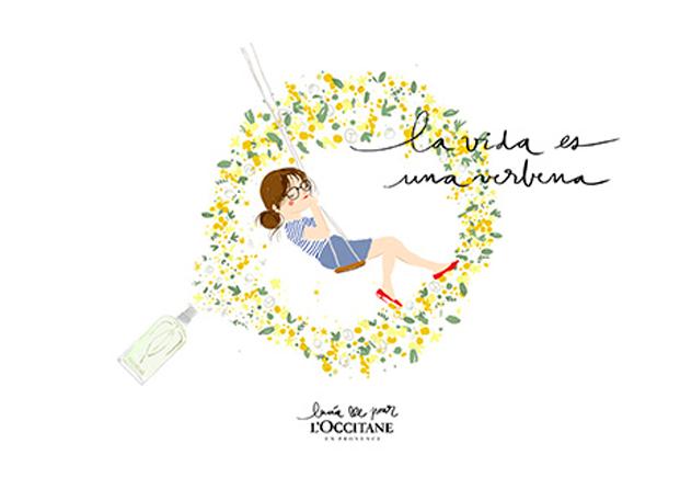 Lucia Be pour L'OCCITANE: la vida es una verbena