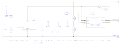 Pulse sensor for Arduino Schematic