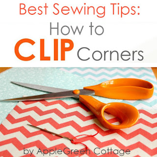 how to clip corners in your sewing projects - easy sewing tips
