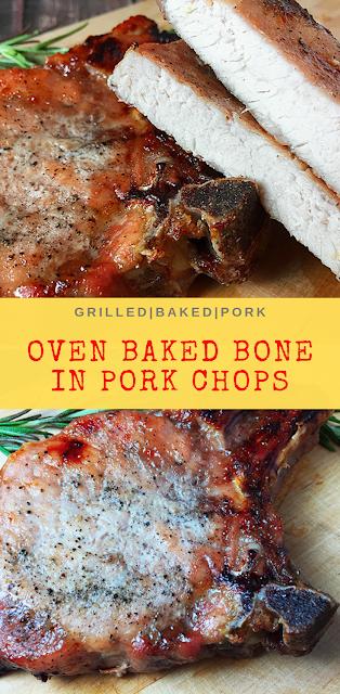 Oven Baked Bone-In Pork Chops