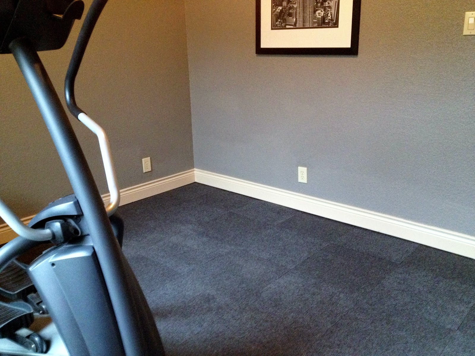 work out room carpet tiles