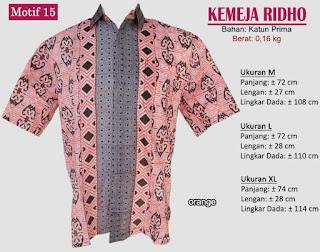 Grosir kemeja batik pria murah dan berkualitas (batik pekalongan)- ridho motif 15