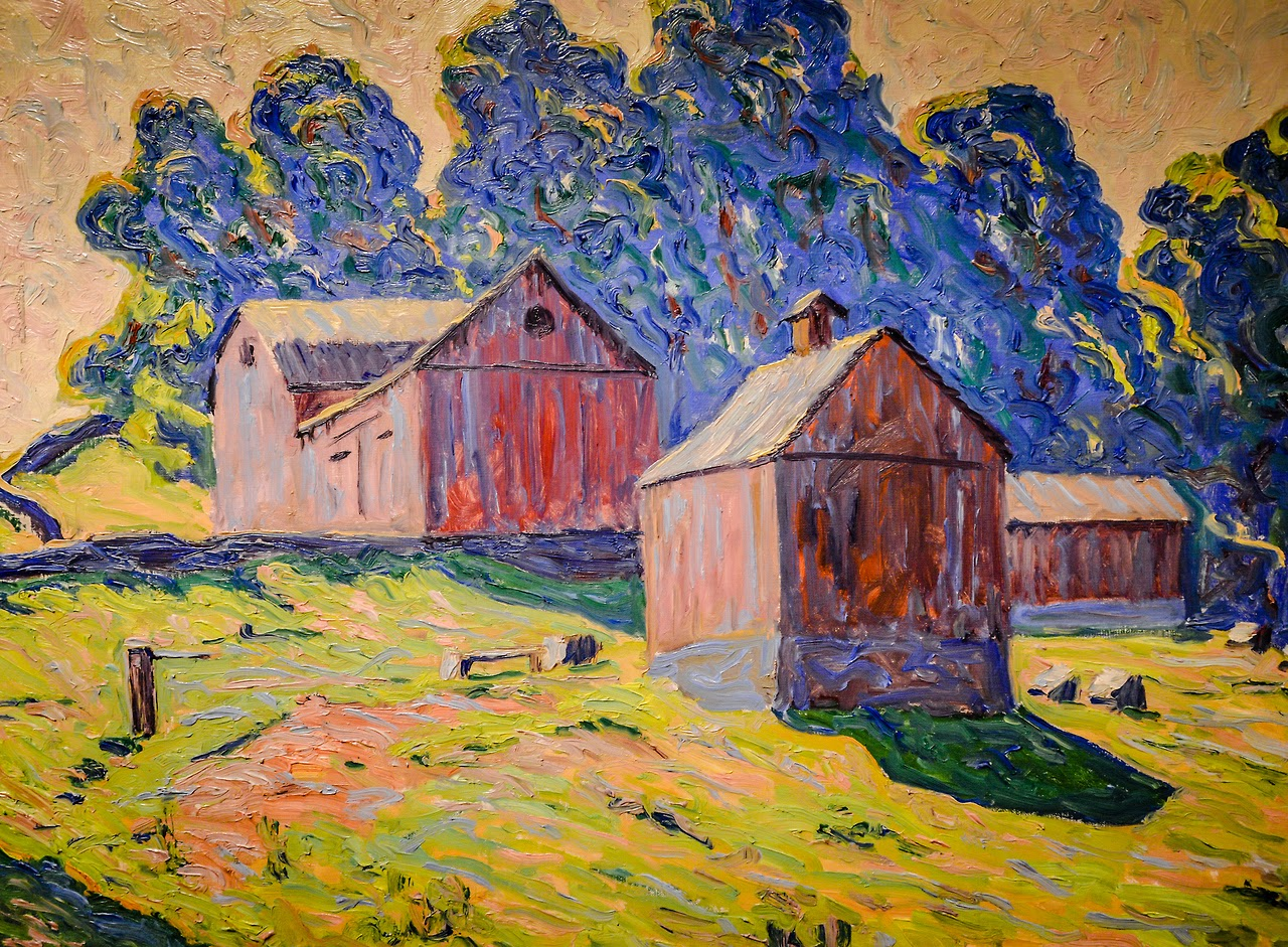 Allen Tucker (1866–1939)   Red Barns 1923