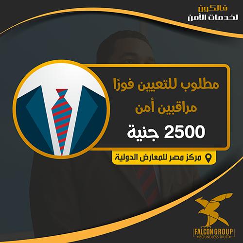 وظائف شركة فالكون للامن تفتح باب التعيينات بمركز مصر للمؤتمرات براتب 2500 جنية ومزايا اخري