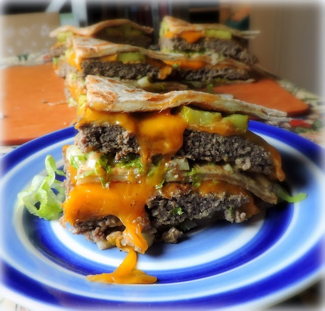 Quesadilla Cheese Burgers