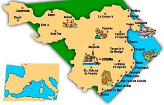 Mapa de la provincia de Girona.