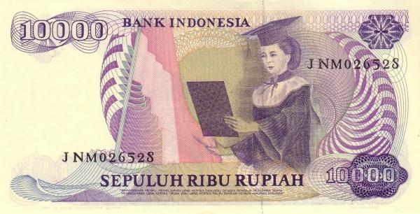 10 ribu rupiah 1985 belakang