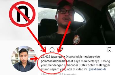 Video Youtuber AA UTAP Tercyduk Polantas