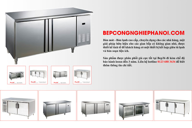 Bàn mát - bàn lạnh công nghiệp cao cấp thương hiệu Berjaya