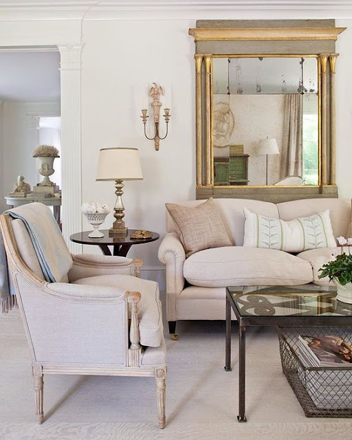 Beautiful Swedish style living room from Tone on Tone