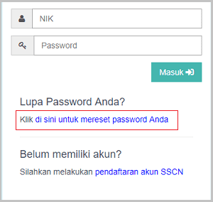 Cara Reset Password sscn.bkn.go.id 2018 (Mengatasi Lupa Password Lupa Saat Login)