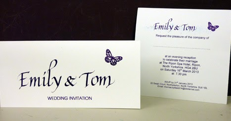 inspired by script emily tom butterflies and bombers wedding invitations guest book table. Black Bedroom Furniture Sets. Home Design Ideas