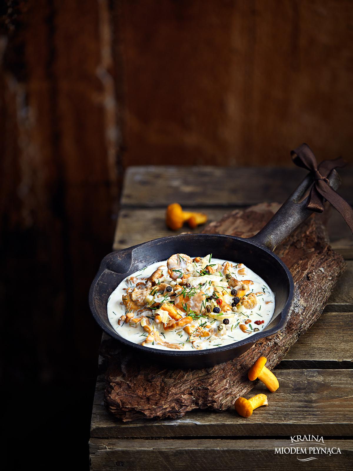 sos kurkowy, sos z kurek, śmietanowy sos z kurkami, sos grzybowy, sos z grzybów, kraina miodem płynąca