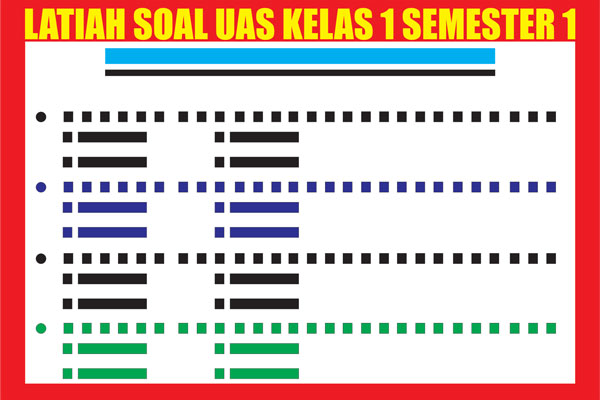 Latihan Soal UAS Kelas 1 SD/MI Semester 1 (Ganjil)
