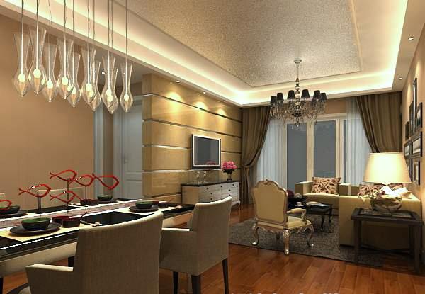 Living Room Restaurant 3D Model free 3ds max