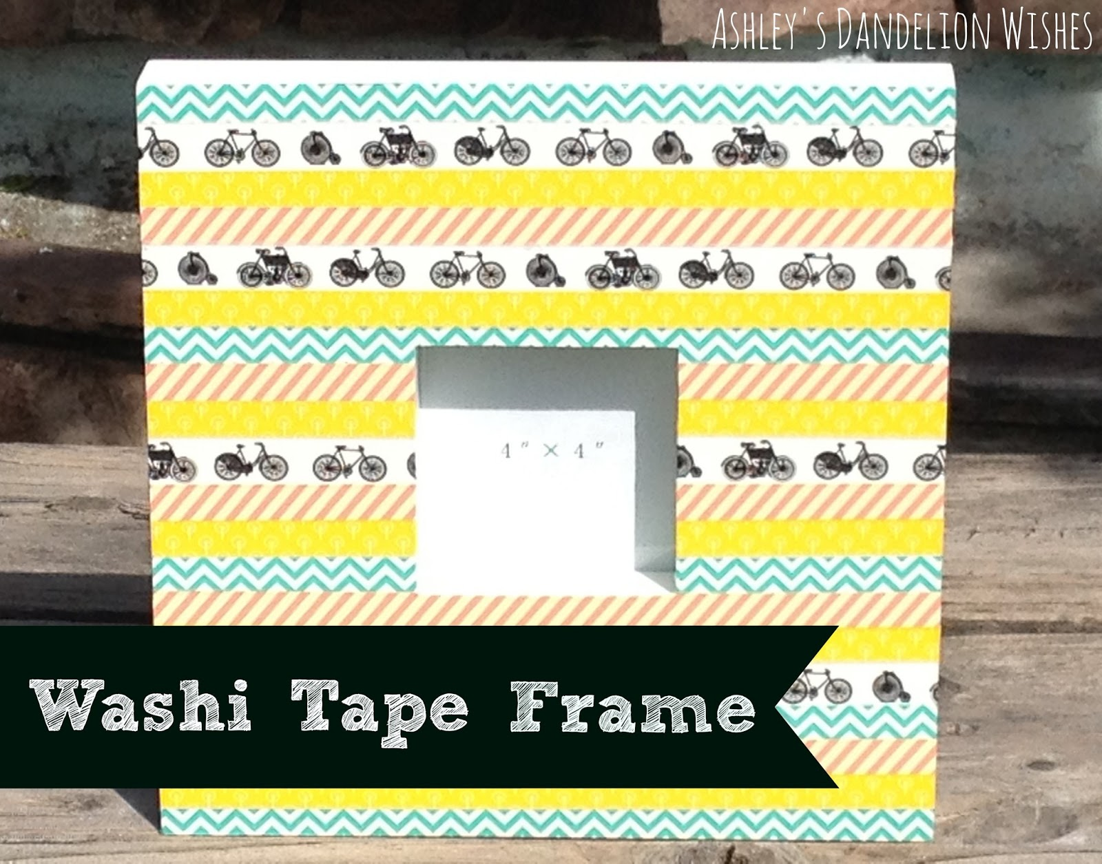 ashley 39 s dandelion wishes diy washi tape frame tutorial. Black Bedroom Furniture Sets. Home Design Ideas