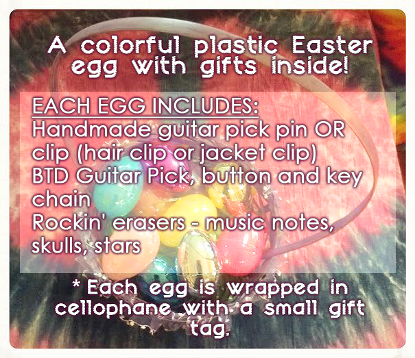 Easter Egg Guitar Pick Jewelry Gift