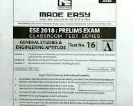 Made easy ESE 2018 test series general studies & Engg