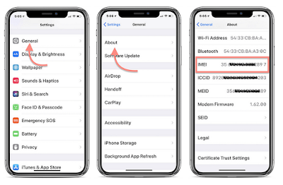 How to Find iPhone X IMEI, ICCID, or MEID