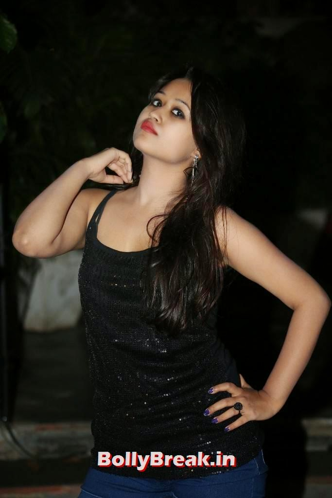 , Actress Vartika Latest hot Photos in Shorts & Black top
