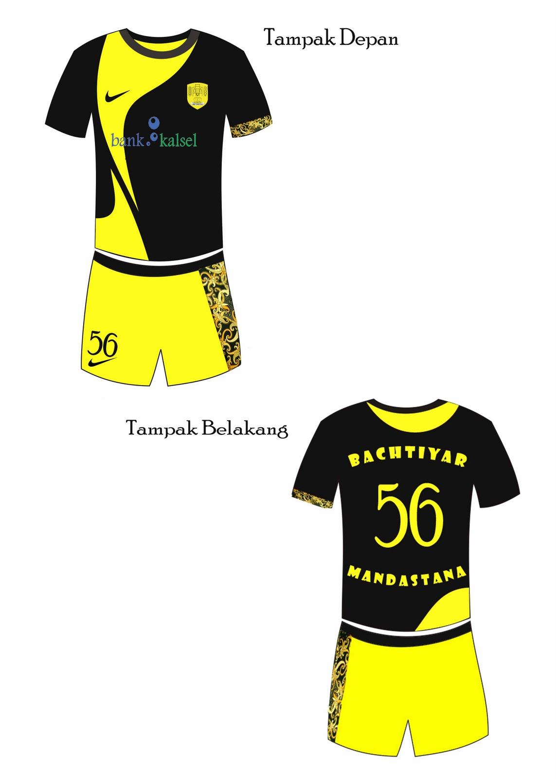 Download Desain Kostum Futsal Depan Belakang | Klopdesain