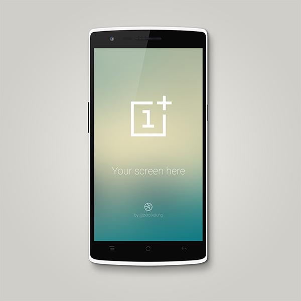 Smartphone & Tablet Mockup PSD Terbaru Gratis - OnePlus One PSD Mockup
