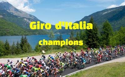 Giro d'Italia, bicycle race, winners champions,  history, list.