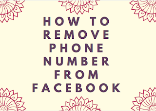 How to remove phone number from Facebook