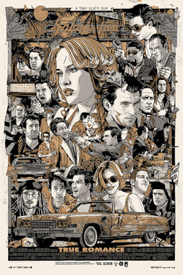 True Romance Movie Poster Screen Print by Tyler Stout x Grey Matter Art