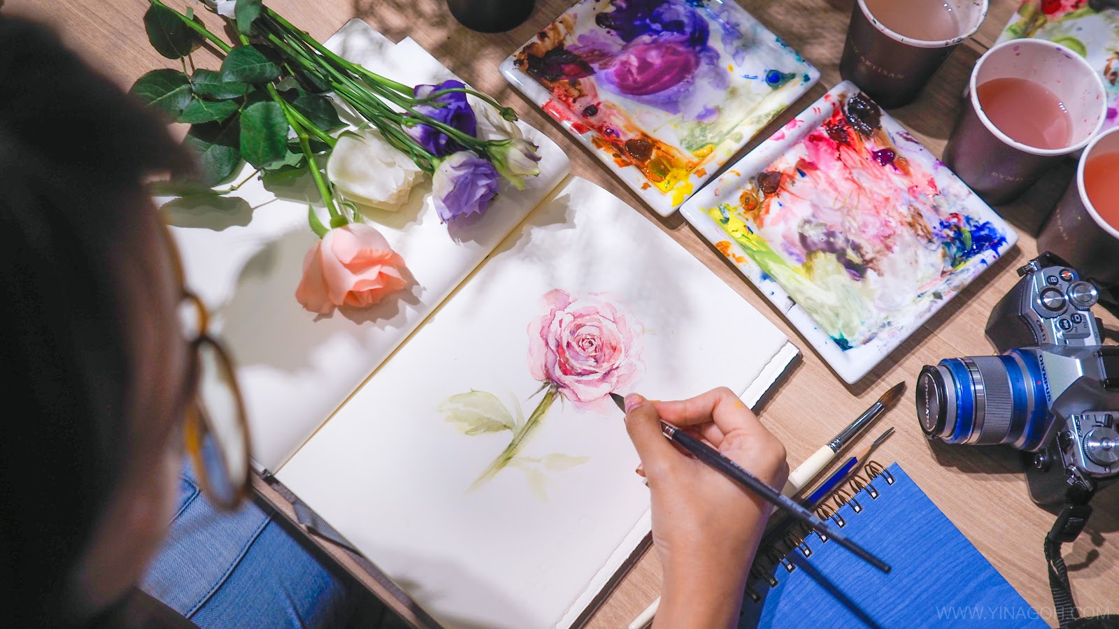 Floral Watercolor Class at Bynd Artisan