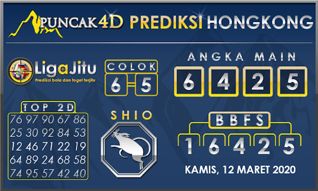 PREDIKSI TOGEL HONGKONG PUNCAK4D 12 MARET 2020