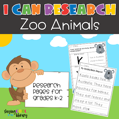 Zoo animals informational text nonfiction library skills