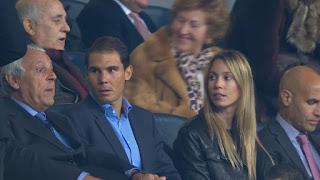 Photos: Rafa Nadal watching Real Madrid vs Napoli in Champions League