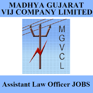 Madhya Gujarat Vij Company Limited, MGVCL, Assistant Law Officer, Graduation, freejobalert, Sarkari Naukri, Latest Jobs, mgvcl logo
