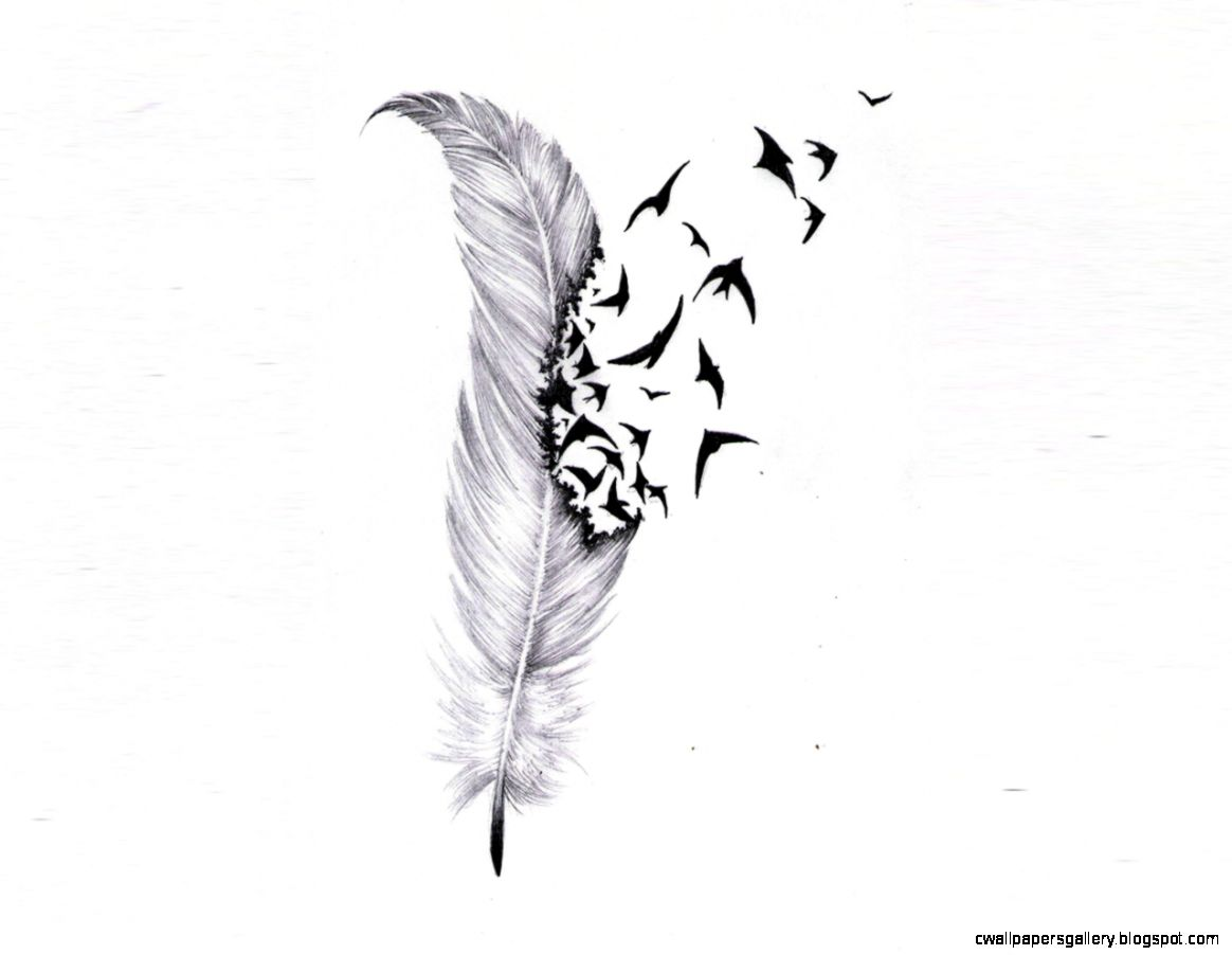 Flying Bird Tattoo Drawing