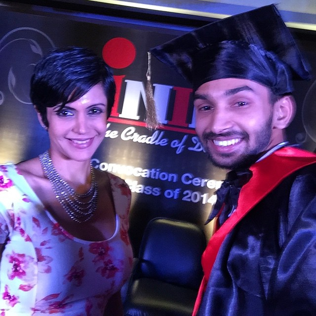 graduation day. was totally prepared day before yesterday to have quick selfie with beautiful mandira bedi with love n laughter. 😘😍👌 bollywood , in dore , mandira bedi , graduation , fun , selfie , 💕😍😎 cool, Latest Hot Pics of Mandira Bedi From Different Events