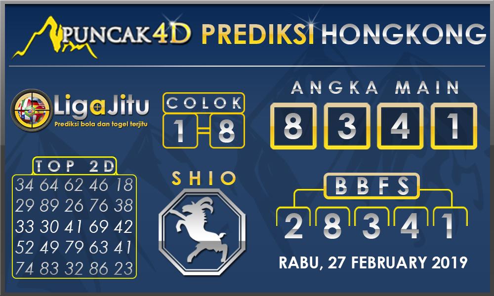Prediksi Togel HONGKONG PUNCAK4D 27 FEBRUARY 2019