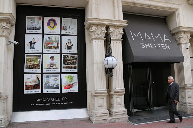 The boutique hotel, Mama Shelter is situated along the narrow lane which is connected to the main busy Istiklal Street near Taksim Square in Istanbul, Turkey