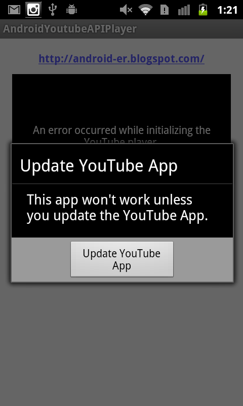 Android-er: Handle initialization error YouTube API Service