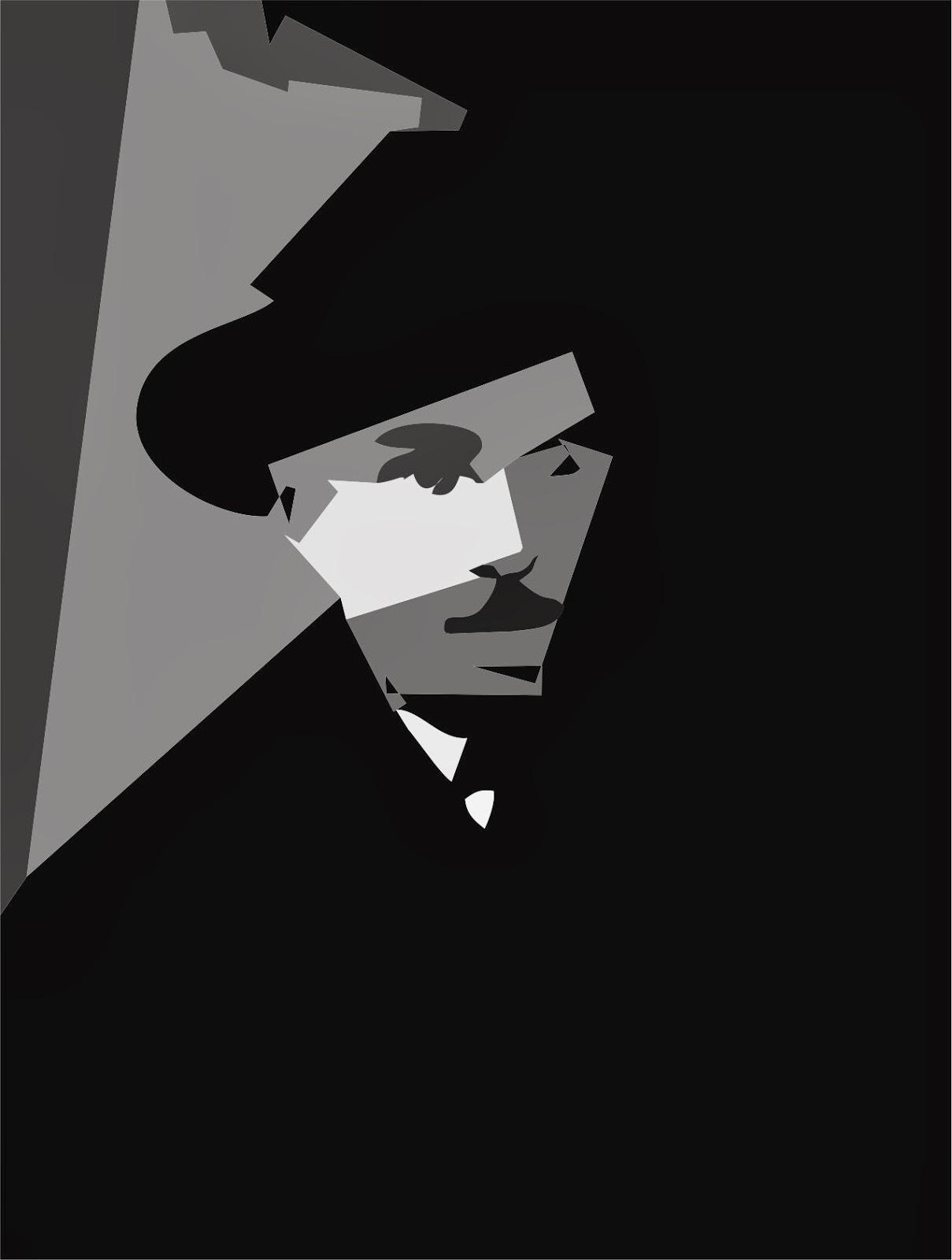 Fernando Pessoa blanco y negro